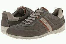 New Rare Ecco Chander Lace up tie Men  sneaker 41 7 7.5 Gray SHOE $148 SALE!!