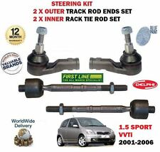 FOR TOYOTA YARIS 1.5 2001-  2X OUTER + 2X INNER STEERING TRACK RACK TIE ROD END