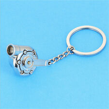 New Fashion Car whistle blower supercharger Metal Silver key ring Creative Gift