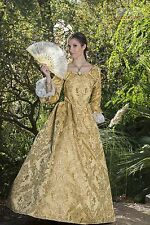 RENAISSANCE REVOLUTIONARY PIRATE SWANN DRESS COSTUME Yellow All Sizes HALLOWEEN