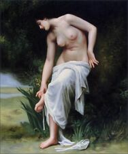 Quality Hand Painted Oil Painting Repro Bouguereau After Bath 1894, 20x24in