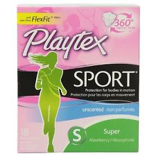 Playtex Sport Tampons Super Unscented 18 Each