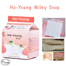 Ha-Young Milky Soap +Tomato Extract Reduce Peel Scurf Brightening skin+Free ship