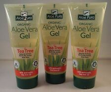 Aloe Pura Orgánico Aloe Vera Gel + Tea Tree 200ml seis tubos