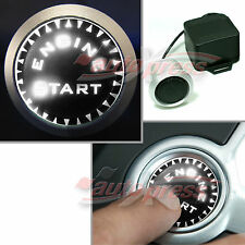 WEISS Weiß LEDs Beleuchtet KFZ Motor Startknopf Drucktaster Engine Start Knopf