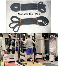 MONSTER MINI Power Lifting SET Band Resistance PAIR Crossfit 45lb Lifting 13/16""