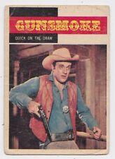 1958 TOPPS TV WESTERNS CARD #11 GUNSMOKE, MATT, QUICK ON THE DRAW
