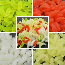 200Pcs Artificial Fishing Lure Faux Maggot Grub Soft Worms Fish Bait Latest