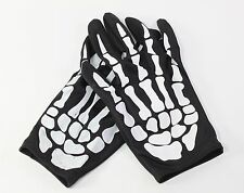 Pair of Skeleton Hand Bone Finger Costume Gloves Halloween Party Gift USA Seller