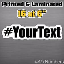 """16@6"""" Hashtag Your Name Twitter Follow Me Custom Hash # Instagram Decal Sticker"""