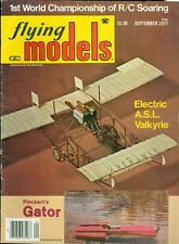 1977 Flying Models Magazine: Electric A.S.L. Valkyrie/Pinckert Gator