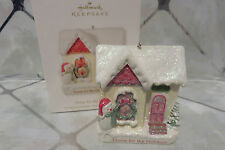 "Retired NEW 2012 Hallmark Ornament ""Home for the Holidays"" Snowman by House"
