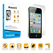 Real Tempered Glass Screen Protector Film Anukku For Apple iPhone 4 - 4s