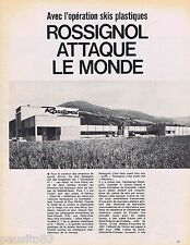 COUPURE DE PRESSE CLIPPING 1968 Les Skis Rossignol attaquent le monde  (3 pages)