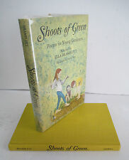 SHOOTS OF GREEN Poems for Young Gardners, 1968 1st Ed in DJ, Illustrated