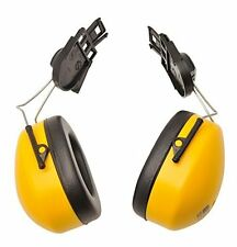 Portwest PW42 Helmet Ear Defenders Muffs Clip On Mounted Ear Protector YELLOW