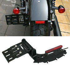 Harley Sportster XL 883 Rear License Plate Lights Folding Mounting Bracket Kit