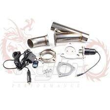 "2"" ELECTRIC EXHAUST + REMOTE CATBACK/DOWNPIPE CUTOUT/E-CUT OUT VALVE SYSTEM KIT"