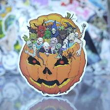 Pumpkin Halloween Spooky Cartoon Monster Skateboard Sticker Suitcase Decal-G032