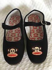 Rare Paul Frank Kung Fu Black Flip Flops Slippers Mary Jane S 7