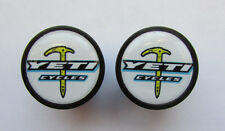 Yeti Cycles handlebar bike caps, Yeti Bike frame logo end plugs, Yeti bike caps