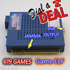 Game Elf  Multi Arcade Game JAMMA Board CGA / VGA Output MAME 619 GAMES