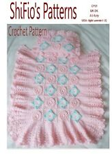 CROCHET PATTERN for BABY MOSES BASKET COVER BLANKET AFGHAN  #81 By ShiFio