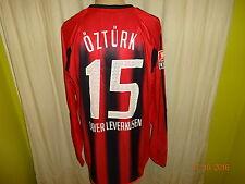 """Bayer 04 Leverkusen Adidas Matchworn Trikot 2004/05 """"RWE"""" + Nr.15 Öztürk Gr.XL"""
