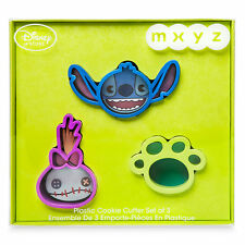 Disney Store MXYZ Lilo & Stitch Cookie Cutter - Set 3 -STITCH, SCRUMP, PAW PRINT