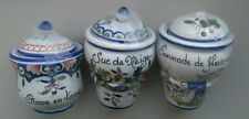 Lot 3 Véritables anciens pots apothicaire pharmacie porcelaine collection