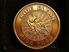 Narcotics Anonymous AA NA Bronze Medallion RIDE CLEAN FREE Token Chip Coin Sober