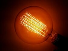 Simple Vintage G95 Edison Light Bulb E26 40W Amber Tinted Globe Squirrel Cage