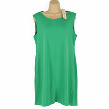 NEW DOROTHY PERKINS FABULOUS GREEN STRETCHY BODYCON SHIFT STYLE DRESS SIZE 16