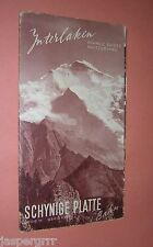1930s SCHYNIGE PLATTE. MOUNTAIN IN SWISS ALPS. INTERLAKEN. TOURIST BROCHURE