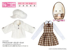 Azone Pureneemo PNXS Little Autumn Girl Set Milk White x Brown Check Blythe Dal