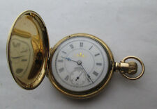 Antique 1891 Hampden 6s Ladies Hunter Case Pocket Watch: Serviced, Running Well