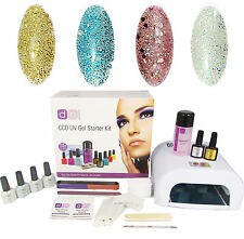 Glamour & Glitz 4 Colour UV Nail Gel Polish Starter Kit Set with 36W Lamp CCO