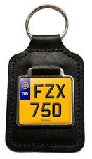 Yamaha FZX 750 Cherished Number Plate Motorcycle Leather Keyring Gift