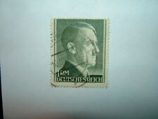 1942 GERMANY 1rm BOTTLE GREEN A.H. STAMP PERF.14 (sg799a) VFU CV £8.50