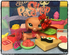 Littlest Pet Shop Ultra Rare Dachshund #2046 AUTHENTIC w/ Accessories