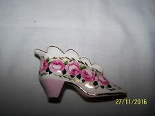 Historic Miniature Shoes Collection -  Coalport - Rose Cluster