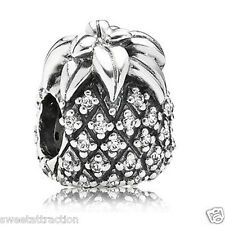 New Authentic Pandora Charm 791293CZ Tropical Sparkling Pineapple Box Included
