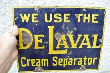 Original Porcelain De Laval Cream Separator Farm Advertising Sign Milk Vintage