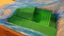 LEGO MiniFigure Base Plate 8x16 Green - LOT of 100 - Thin Small Stud Brick Table
