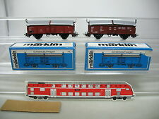 AG144-0,5# 2x Märklin/Marklin H0/AC 4619 Goods Sliding roof wagon DB, OVP