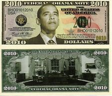 Barack Obama Presidential 2010 Novelty Money
