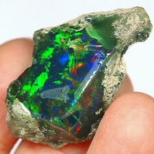 38.1CT  New Found 100% Natural Africa Black Opal Facet Rough Specimen UYWO49