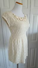 F21 Women's Ivory Lace Dress Size S Going Out Date Night