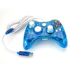Wired USB Controller Gamepad Joypad For Microsoft Xbox 360 Afterglow Blue CA