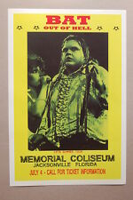 Meatloaf Concert Tour Poster1978 Bat Out of Hell